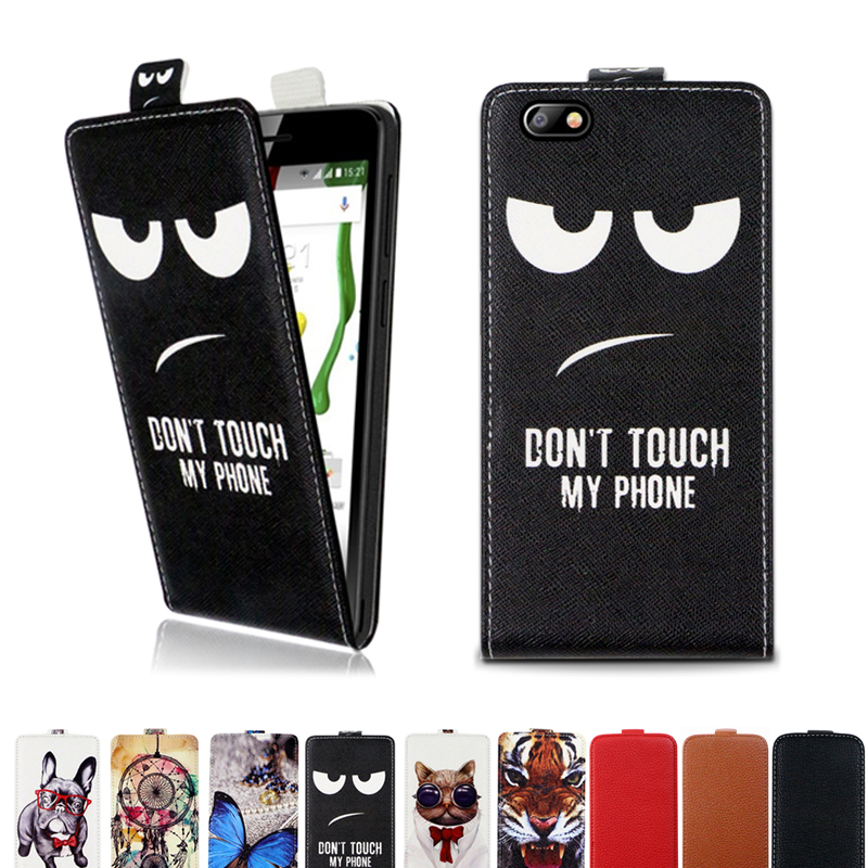 Hot Sale Flip Vertical Cover Bag Up And Down Pu Leather Case For