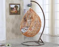 rattan single seat hanging casual swing chair