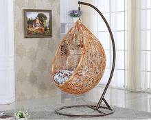 rattan single seat hanging casual swing chair