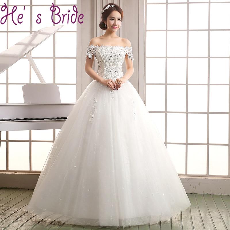 Ebay asymmetrical lace wedding dress loose boat neck