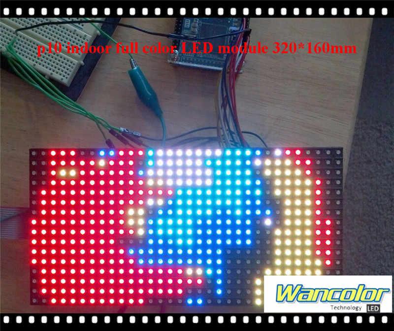شحن مجاني diy led smd كامل اللون أدى حدة العرض 20 قطع p10 داخلي (320*160 ملليمتر) + 1 قطعة rgb led المراقب + 2 قطعة إمدادات الطاقة