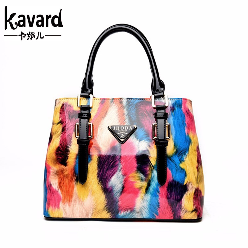 KAVARD Luxury Women Handbags Famous Designer Shoulder Bags Patent Leather Bags Women 2017 Fashion Bolsa Ladies Sac A Main