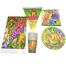 51pcs/lot Jungle Animals Theme Birthday Party Banner Baby Shower Plates Cups Tablecloth Kids Favors Napkins Decora Tableware Set cunningham geikie hours with the bible or the scriptures in the light of modern knowledge volume 3
