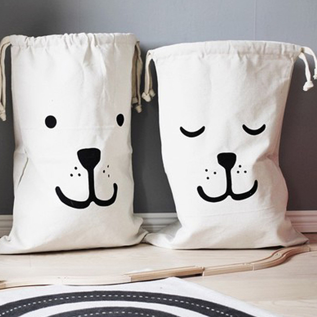 xoxo furniture xoxopillow leku ins baby storage bag canvas bag white cotton hand stand up print xoxo rabbit