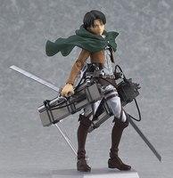 Anime Attaque sur Titan Figure Brinquedos Juguetes Shingeki Pas Kyojin Rivaille Figma 213 Boxed Action PVC Figure Modèle Jouet 15 CM