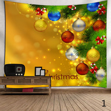 Wall Tapestry Christmas Tree Decoration Wall Cloth Tapestries Wall Carpet Tablecloth Dorm Headboard Wall Decor Tapestry New Year