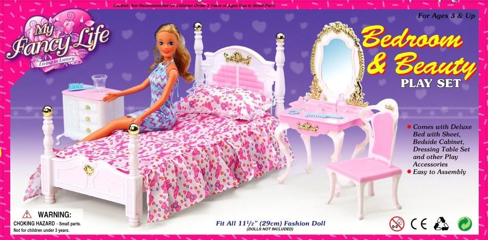 US $13.8 8% di SCONTO|Caso principessa per la bambola di barbie ragazza  camera da letto mobili e accessori camera da letto Barbie Sogno Armadio ...