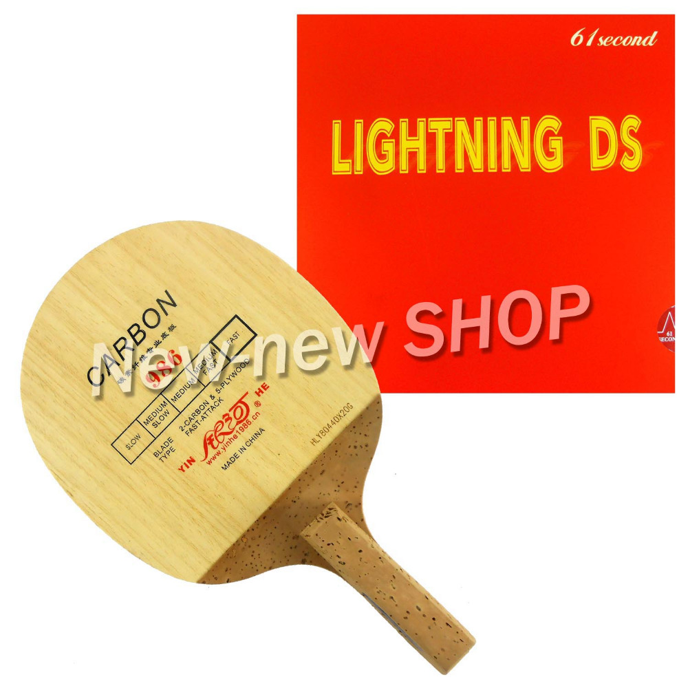 Galaxy YINHE Milky Way 986 Table Tennis Blade 61second Lightning DS Rubber for Ping Pong Racket Paddle Bat Japanese Penhold JS