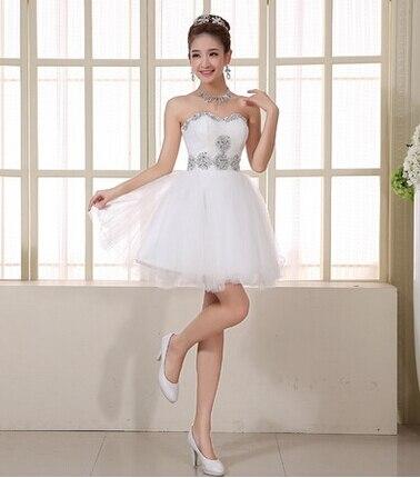 Ladybeauty/; платье для сестер; короткое вечернее платье; топ-труба; короткие дизайнерские вечерние платья на шнуровке; платье для выпускного вечера; - Цвет: Белый