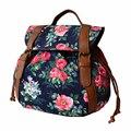 2017 New Women Fashion Canvas Backpack Flower Floral Print School Bags For Gilrs Teenagers Travel Bag Bolsas Mochilas Femininas