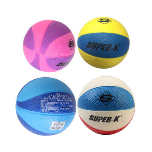 Soft PU Foam 12.5cm Mini Hoop Indoor Basketball Sponge Stress Ball Kids Safe Toy