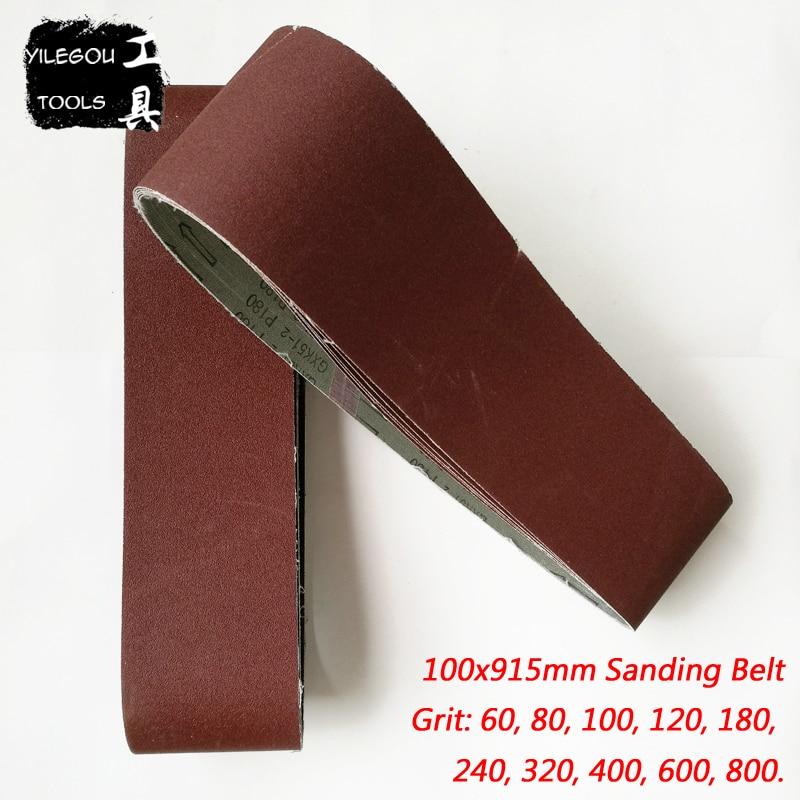 "10 PACK 40 2 each: 36 4/"" x 36/"" A//O Sanding Belt Coarse Kit 80 60 120 Grit"
