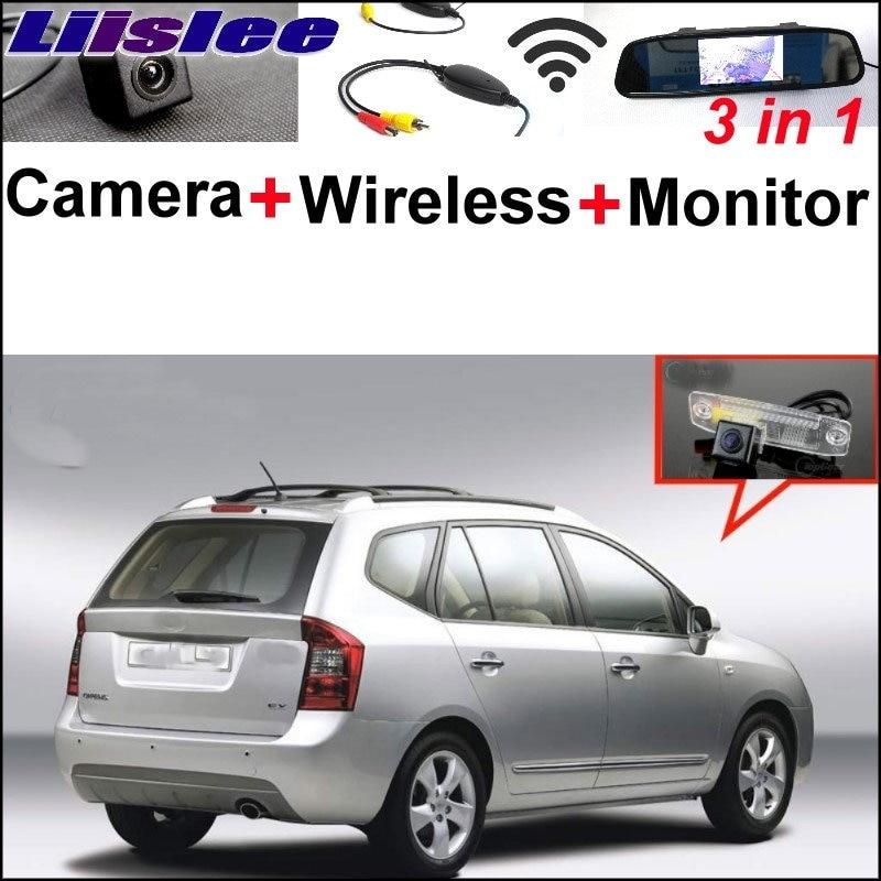 цена Liislee Special Rear View Camera + Wireless Receiver + Mirror Monitor Parking System For KIA Carens Ceed Cee'd Rondo 2006~2013 в интернет-магазинах
