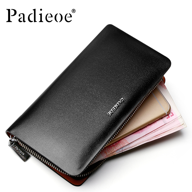 2017 Padieoe Luxury Brand Business Mens Wallet New Fashion Genuine Leather Men's Purse High Quality Casual Card Holder For Male