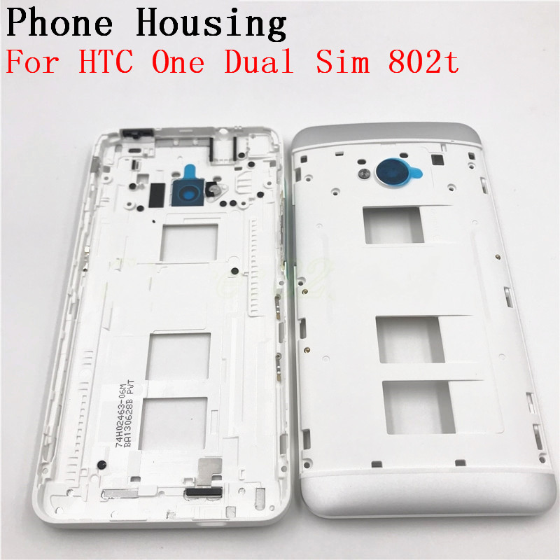Original Front Bezel Housing LCD Frame For HTC One Dual ...