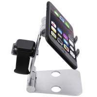 Rondaful 3 In 1 Portable Foldable Adjustable Cell Phone Stand Tablet Stand For IPhone IPad Macbook