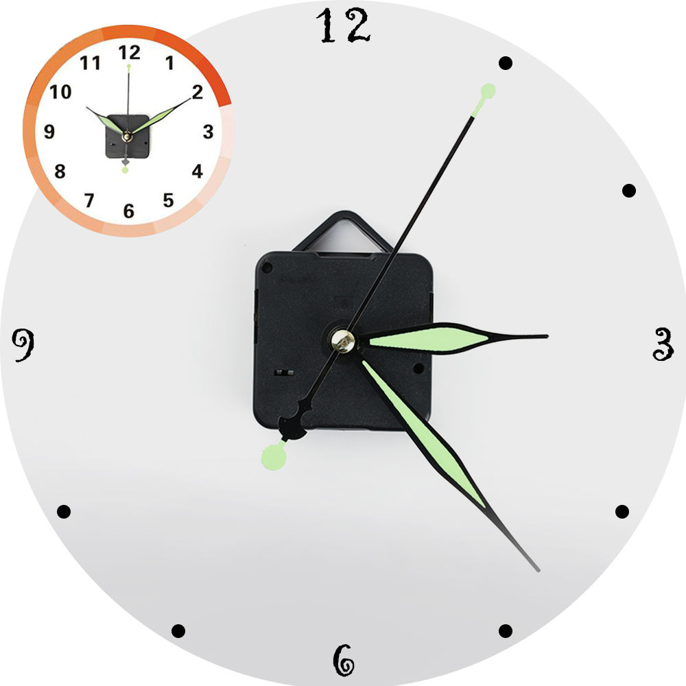 Glow in the Dark Clock Pointers Time Hands Quartz Clock Replacements Crafts