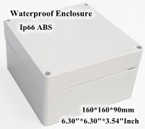 Abs Ip66 Waterproof Enclosure Electronic Plastic Box 160*160*90mm 6.306.303.54Inch Junction Distribution Switch Outdoor Box swopper classic