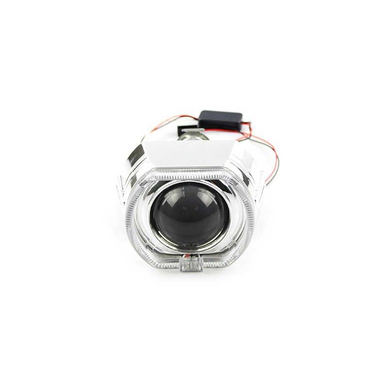 TPTOB X5 квадратный светодио дный Ангельские глазки дьявол Halo DRL Би Xenon автомобиля объектива проектор фар HID комплект автоматической настройки H4 H7 применение H1 лампы