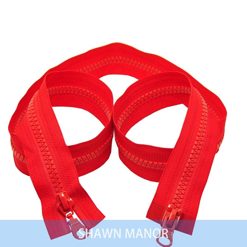 Alipress 5#90 см двойные ползунки смолы застежки-молнии для шитья спальный мешок для палаток Пальто Аксессуары 3 шт - Цвет: red