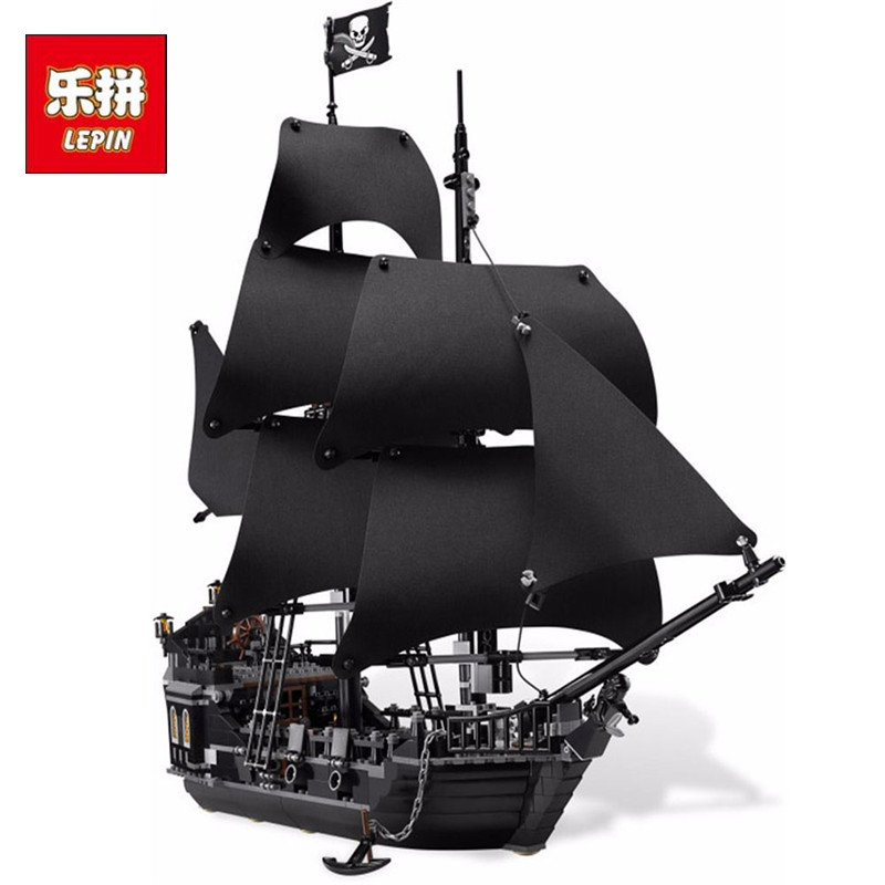 Lepin 16006 804Pcs Pirates Of The Caribbean The Black Pearl Ship Model Building Kits Toy Compatible Bricks Educational Toys 1513pcs pirates of the caribbean black pearl general dark ship 1313 model building blocks children boy toys compatible with lego