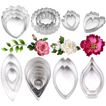 Biscuit Mould Stainless Steel Cookie Cutter Flower Leaf Calla Lily Rose Peony Carnation Tulip petal DIY Cake Baking Pastry Tools(China)