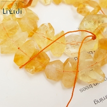 Lii Ji Natural Crystal Citrine Irregular Shape Loose Beads about 9×13-10x20mm for DIY Jewelry Making Bracelet about 39cm