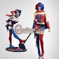 DC Comic Nueva 52 Harley Quinn Azul y Rojo de Halloween Carnaval Cosplay Por Encargo