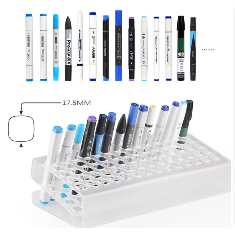 36, 70 Slot Acrylic Marker Pen Pencil  Display Rack Office Home Desk Organiser Storage
