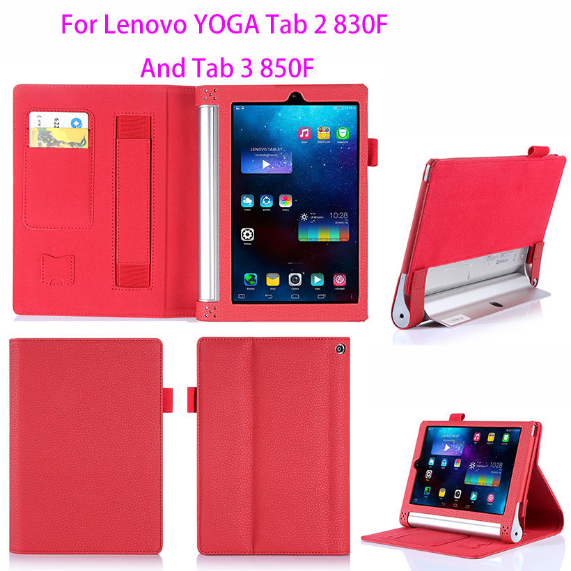 Luxury Leather Case For Lenovo yoga tablet 2 830f 830L Cover For Lenovo yoga tab 3 850F 850L 8.0 inch Case Hands Holder Funda ynmiwei for miix 320 tablet keyboard case for lenovo ideapad miix 320 10 1 leather cover cases wallet case hand holder films