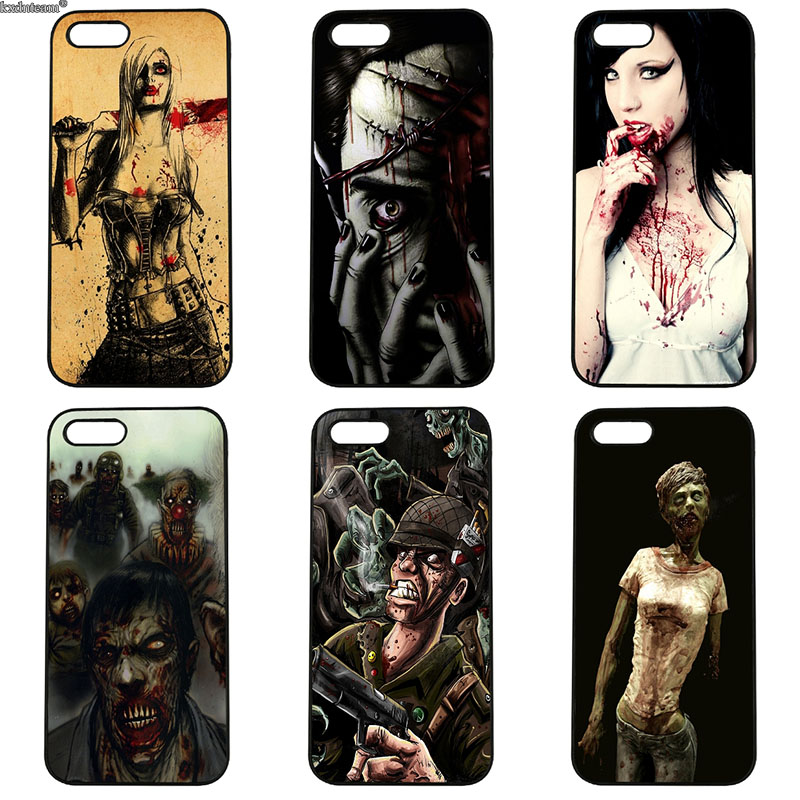 Hot Zombie Crisis Design Cell Phone Case Hard PC Plastic Cover for iphone 8 7 6 6S Plus X 5S 5C 5 SE 4 4S iPod Touch 4 5 6 Shell