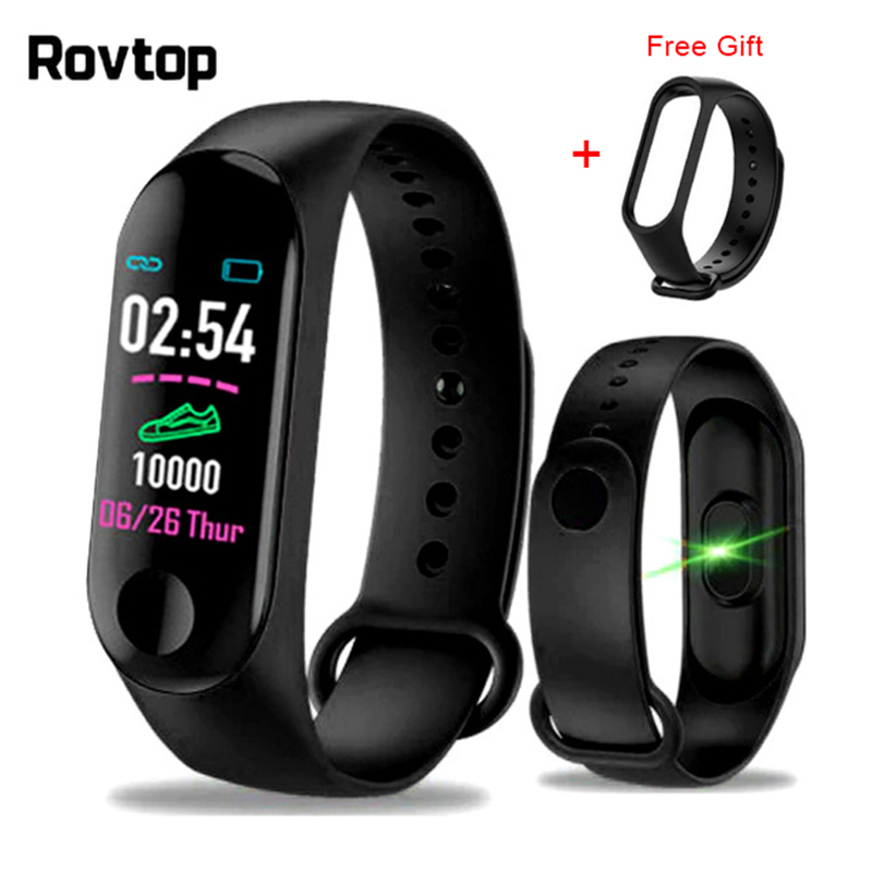 Rovtop M3plus Smart Wristband Smart Bracelet Heart Rate Fitness Tracker