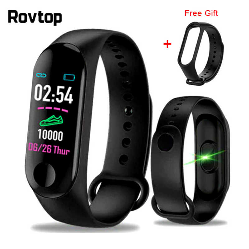 M3plus Smart Smart-Armband-Armband mit Extra Band Smart Band Herz Rate Aktivität Fitness Tracker Smart Uhr M3 Pro M3 plus