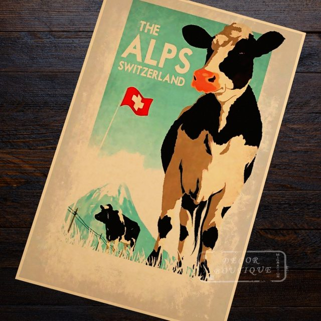 Online Shop Dairy cow ALPS Seaview Mountain View Switzerland Travel ...