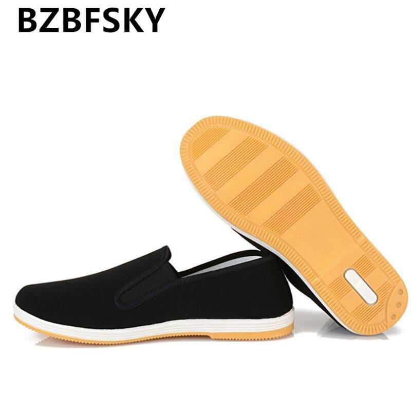 Китайский кунг-фу Брюс Ли Старый Пекин Стиль ручной работы Тканевая обувь мужской/женский черный дышащие противоскользящие Повседневная о…