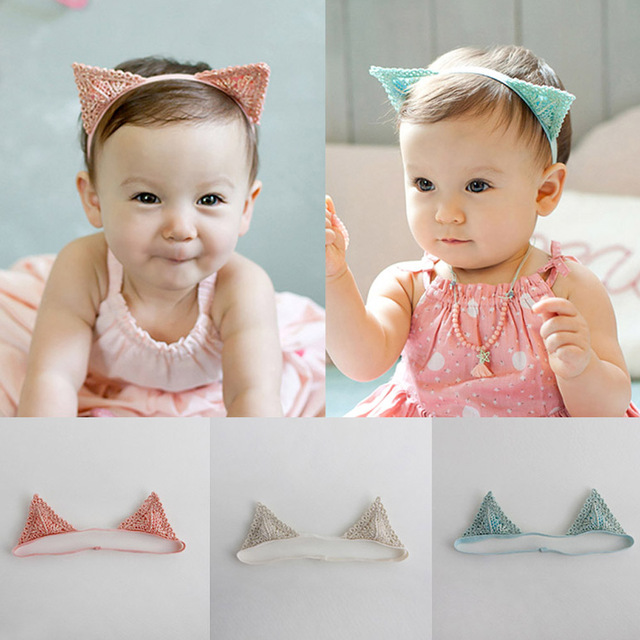 Cat Ears Headband Delicate Lace Children Hair Band Baby Hair Accessories Headbands  Baby Head Ornaments Korean 4e08c5bd2af