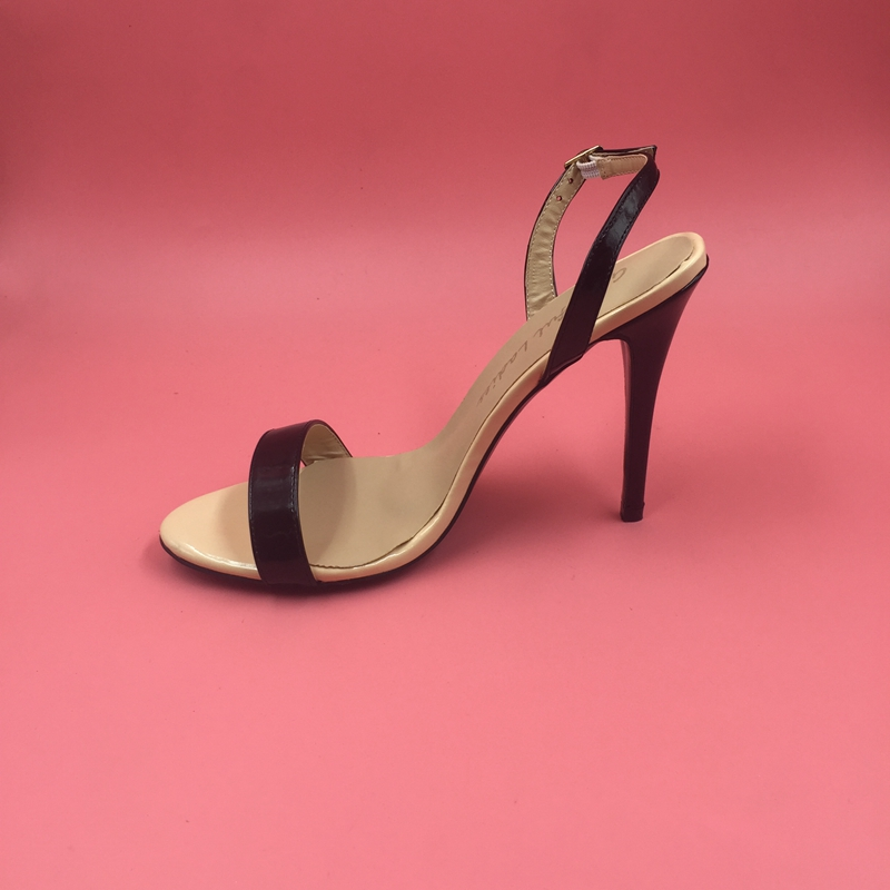 Black and <font><b>Nude</b></font> Slingbacks Sandals <font><b>Women</b></font> <font><b>Open</b></font> <font><b>Toe</b></font> <font><b>Buckle</b></font> Summer Shoes 2017 New <font><b>Patent</b></font> <font><b>Leather</b></font> Low Heel <font><b>Dress</b></font> Sandals