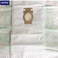 NTNT KIRBY VACUUM BAGS 6 Sentria UNIVERSAL F Style MICRON MAGIC Hepa White Cloth With Printing