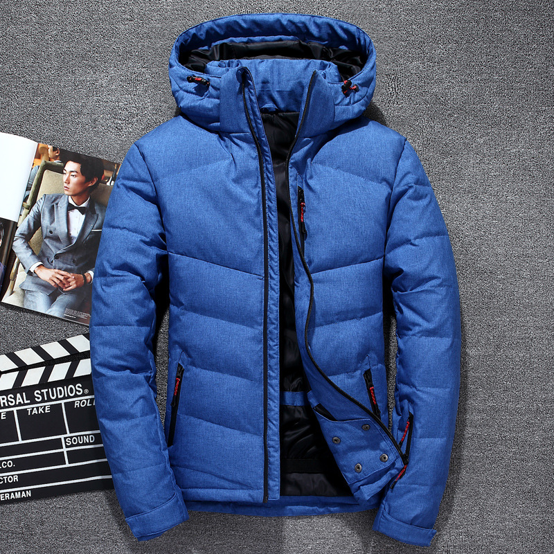 GAUCHE ROM 2018 Mode mâle chaud en hiver slim Fit de haute qualité à capuchon En Coton rembourré vêtements/hommes pur de couleur vestes taille S-XXXL