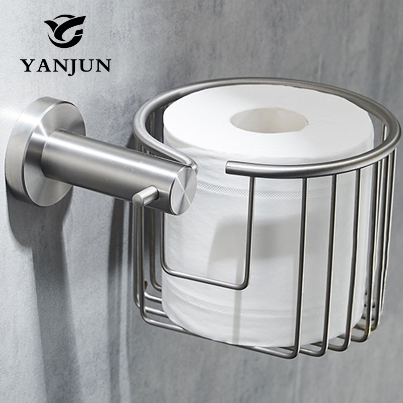 Paper Holders Crystal Wall Mounted Bathroom Accessories Toilet Paper WC Basket Tissue Holder Antique Stainles gold crystal wall mounted toilet paper holders brass wc roll paper tissue basket bathroom accessories