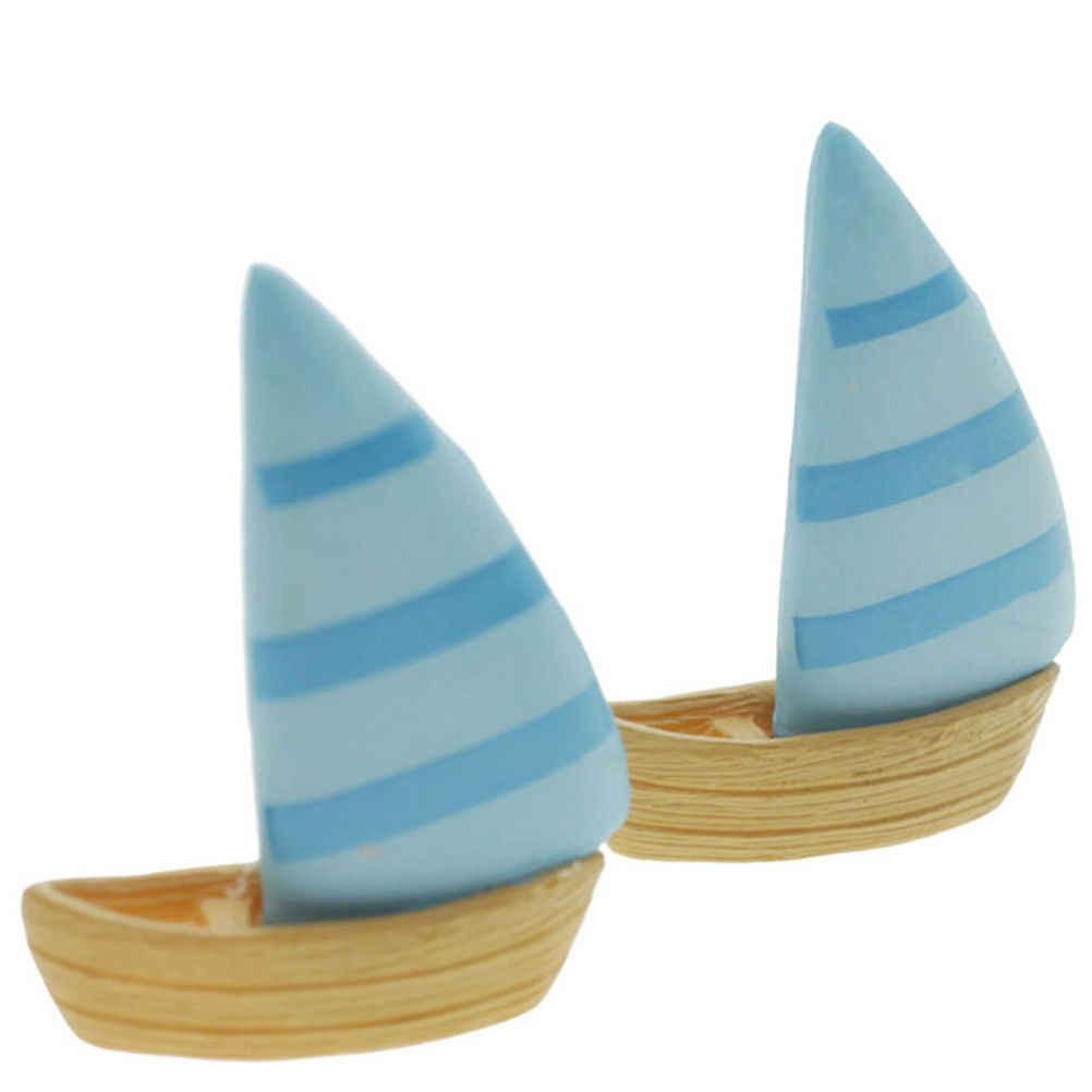 FAI DA TE Spiaggia Paesaggio Micro Decorazione del Giardino Ornamenti Artigianali In Resina Mini Barca A Vela Barche Modello Figure Giocattoli Terrari