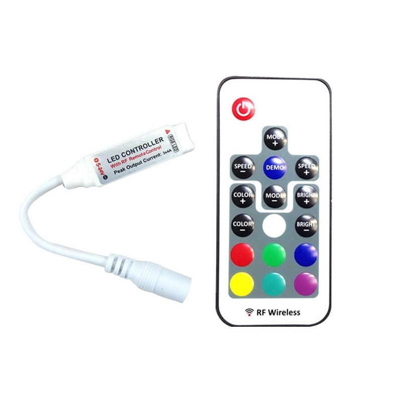 Mini 17Keys RF Wireless Fernbedienung Controller  LED Streifen Licht DC5-24V