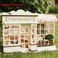 Vigésimo quarto DIY Artesanal De Madeira Modelo de Casa de Bonecas Em Miniatura-LED + Todos Os Móveis Dollhouse & instrução Inglês Mais fotos