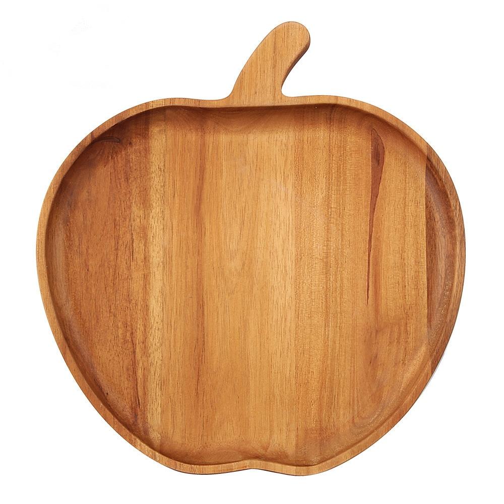 Pomme Stlye Plat À Dîner En Bois Plat De Service Plat Plat En Bois - Cuisine, salle à manger et bar - Photo 1