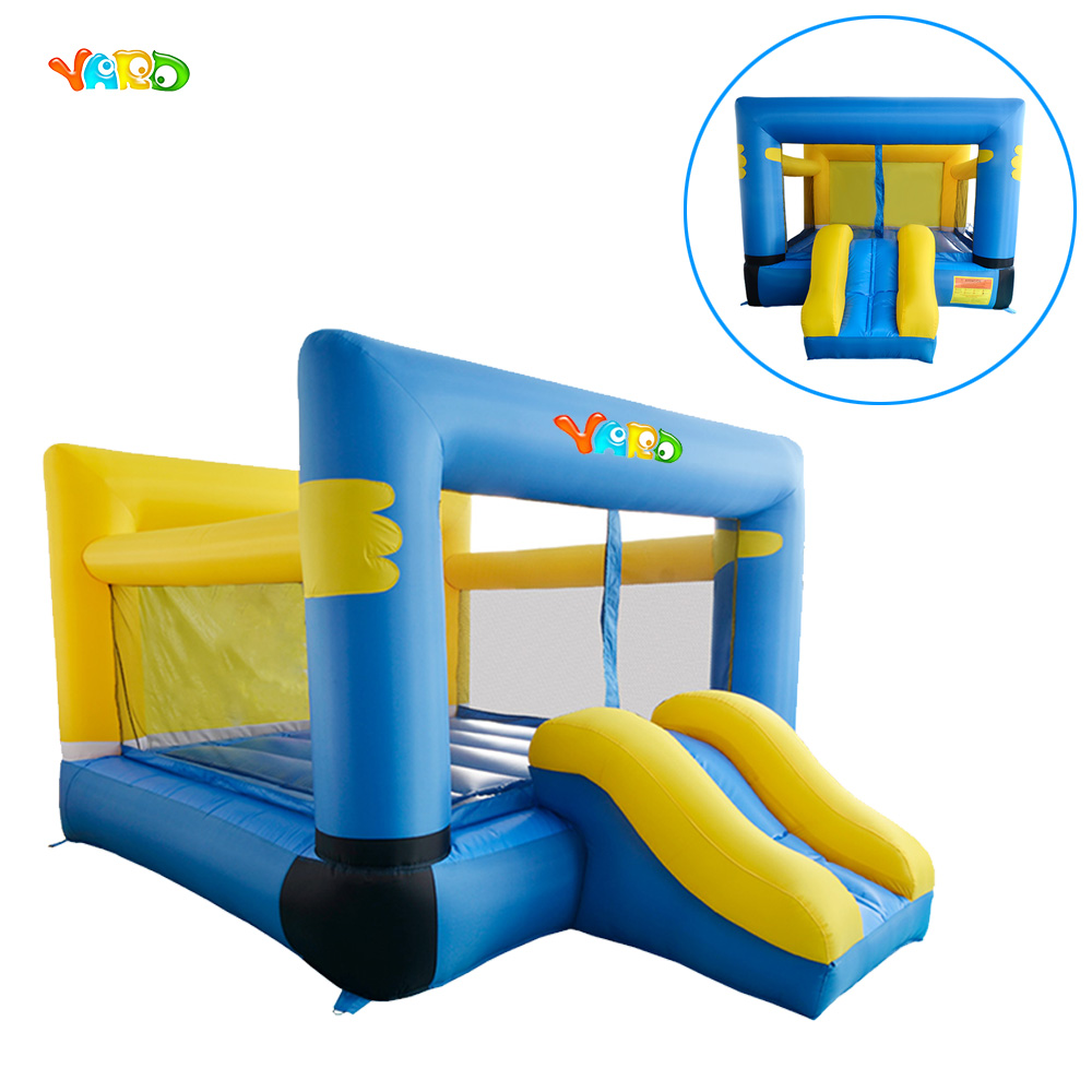 YARD Nylon Inflatables Bouncer Jumping Castle Trampoline Inflatable Bouncy House Toy with Slide For Backyard  yard dhl free shipping inflatable bouncer bouncy jumper colorful castle with long slide for kids