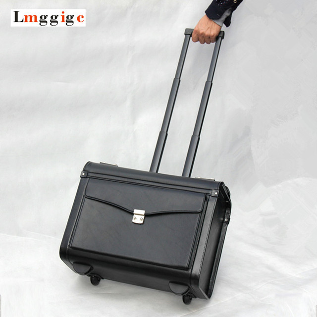 "20""inch cabin Luggage, Flight attendants Box,Commercial PU computer Bag,Unisex Password suitcases,Boarding Rolling Travel Case"