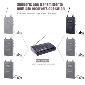 Image 5 - Takstar WPM 200/Takstar WPM 200R UHF Wireless Audio System Receiver LCD Display 6 Selectable Channels 50m Transmission Distance