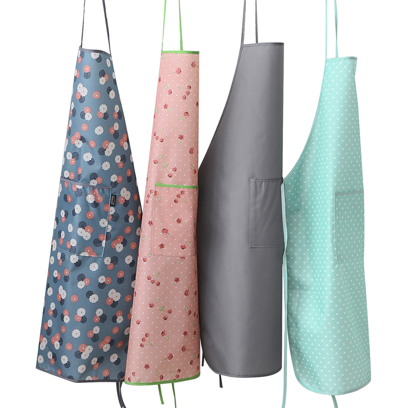 Kitchen Wear Cow Thick Waterproof Apron Anti Fouling Adult Women Cooking Work Overall Pvc Material