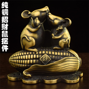 copper The  ornaments heavy brass rat corn  rat Fu Choi ornaments crafts of size  in rats  decoration