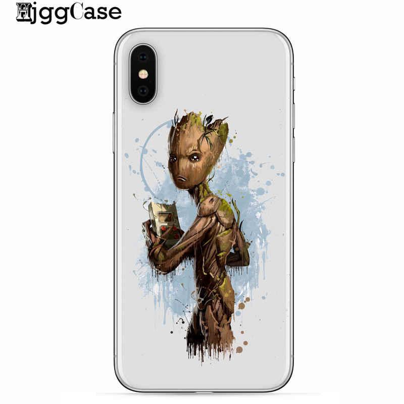 Bien Marvel vengadores caso para iPhone XS Max XR X 7 6 s 8 Plus 5S SE hierro hombre Spiderman deadpool Groot casos cubre estuche Coque